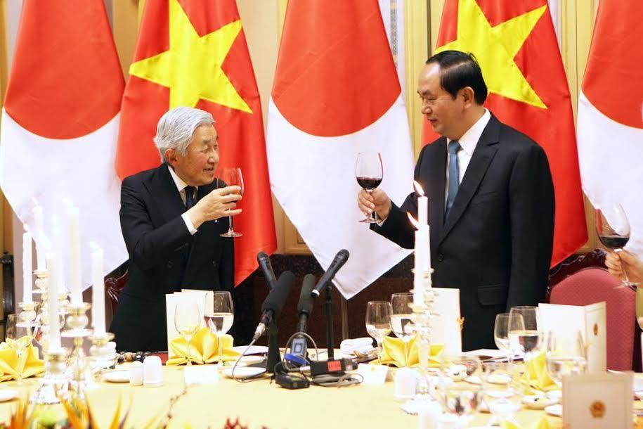 Nhà vua và Hoàng hậu Nhật Bản thăm Việt Nam, Chủ tịch nước Trần Đại Quang