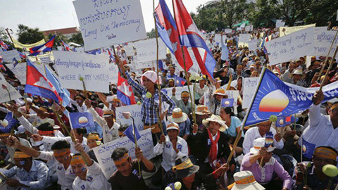 Campuchia, biểu tình, Phnom Penh, CNRP, CPP