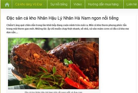 cá kho làng Vũ Đại, Thương mại điện tử, Bộ Công Thương, Google
