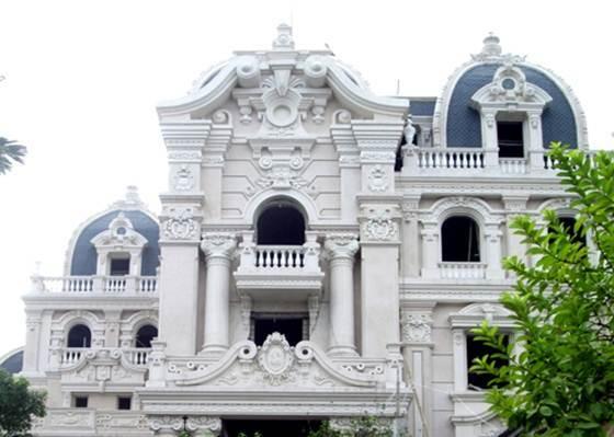 lâu-đài, Hà-Nội, dát-vàng, dinh-thự, biệt-thự