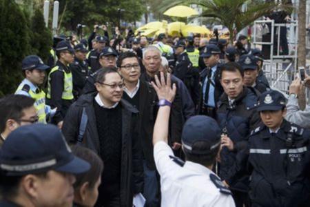 Hong Kong, biểu tình, ChiếmTrung tâm, tự thú, thủ lĩnh