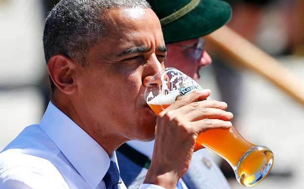 Obama, bia, Đức