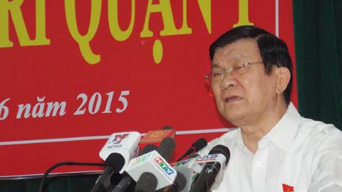 Chủ tịch nước, Trương Tấn Sang, tiếp xúc cử tri, tham nhũng, TP.HCM