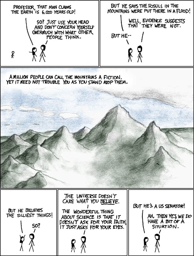 XKCD on science and religion