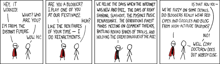 XKCD, blogofaire, Cory Doctorow