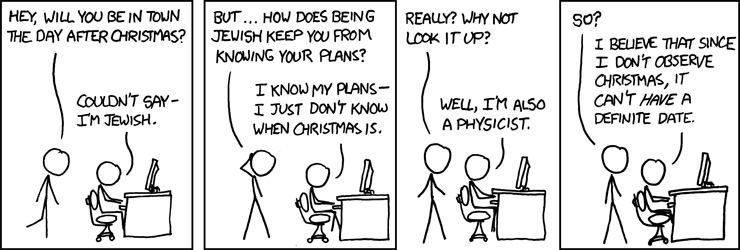 xkcd on date of christmas