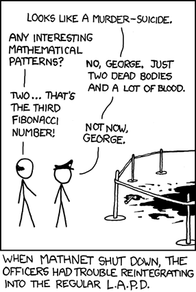 Crime Scene (courtesy of xkcd.com)