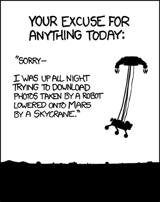 XKCD - Your excuse for anything today