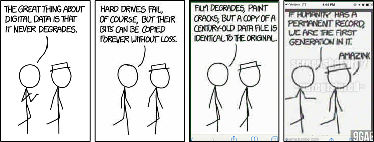 XKCD cartoon on Digital Data