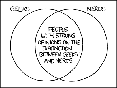 Geends and Nerds Venn diagram
