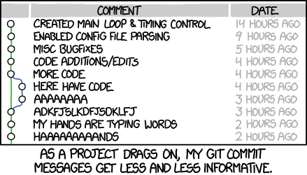 useless commit messages