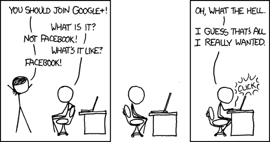 Google+ Cartoon Strip