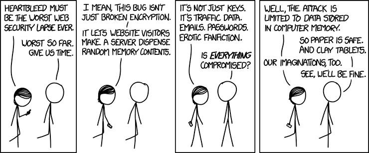 Heartbleed seen by xkcd