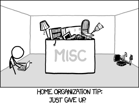 XKCD Home Organization
