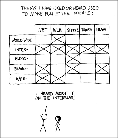 Interblag from XKCD