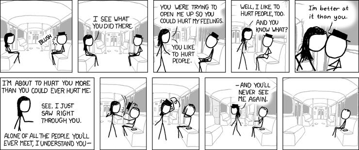 Una tira cómica y sarcástica