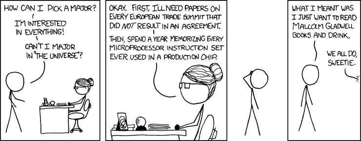 XKCD comic, might as well be about philosophy