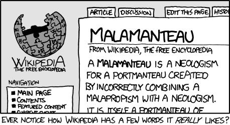 The original appearance of Malamanteau