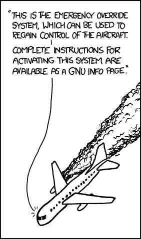 I think you mean 'GNU INFO override'