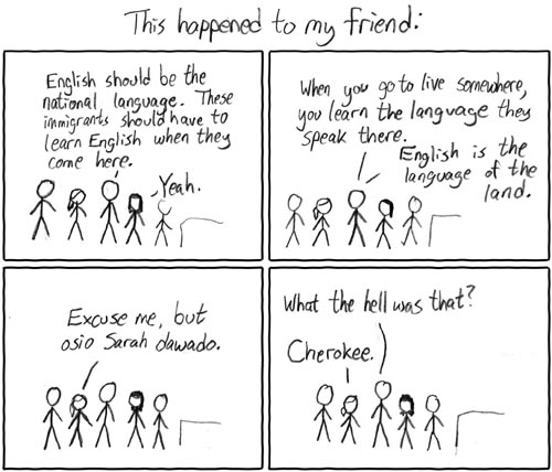 XKCD cartoon on the national language