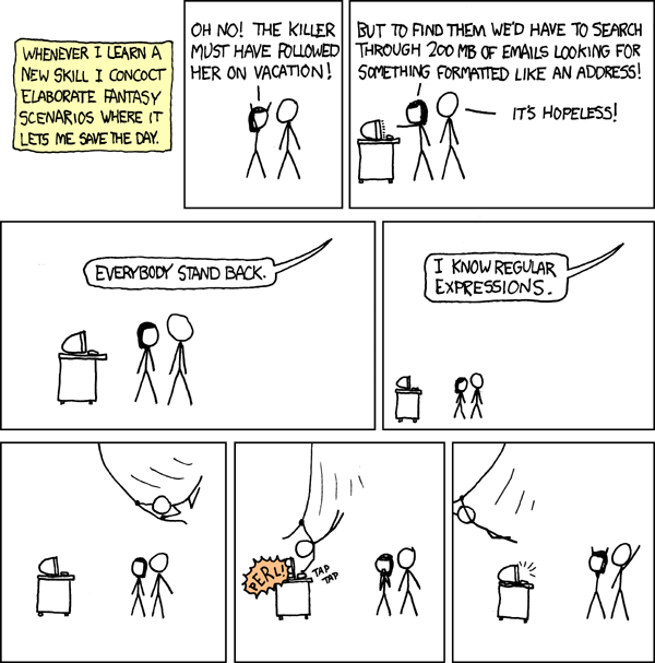Everybody stand back - i know regular expressions!