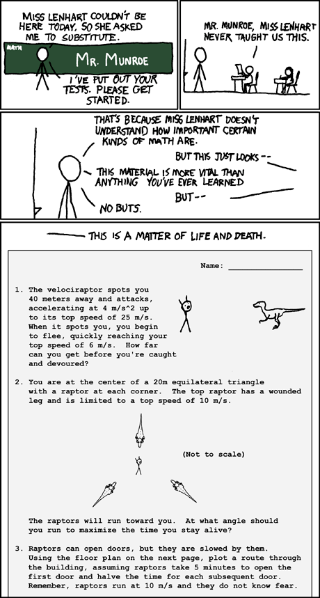 XKCD, stick figures