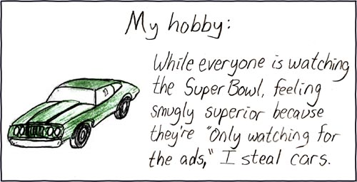 The Super Bowl is actually an elaborate ruse, concocted by a shadowy group in the mid sixties for this purpose.  The 'watch it for the ads' addition was a master stroke.