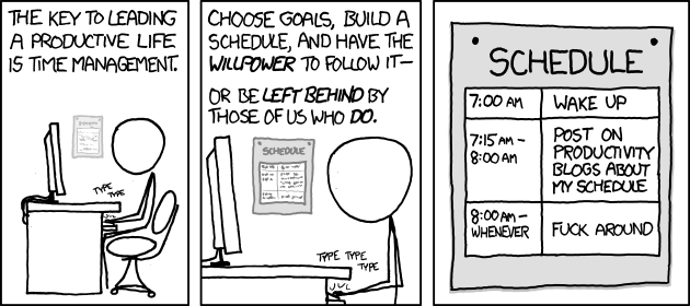 xkcd time management comic