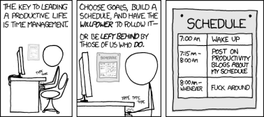 Time Management (Source: http://xkcd.com/874/)