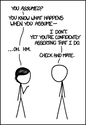 When you assume - xkcd.com