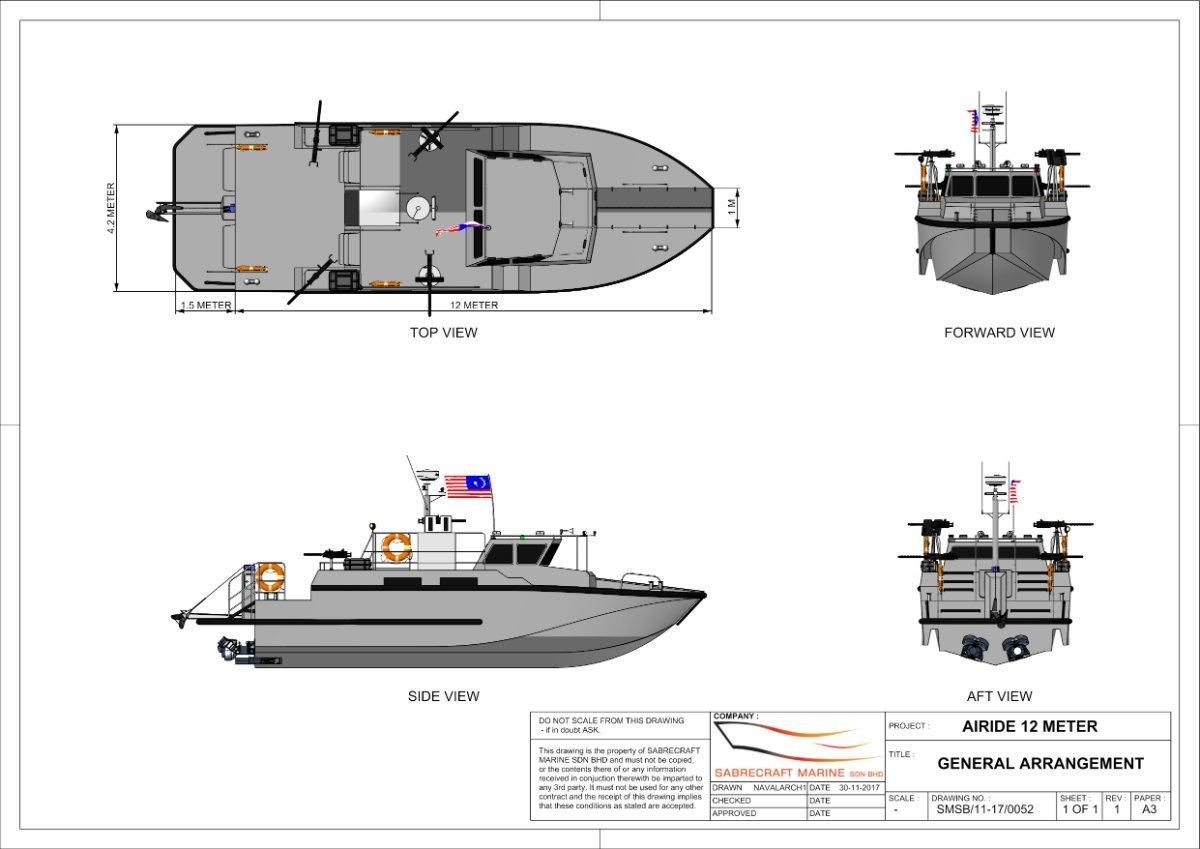 New Sabrecraft Marine Patrol Airride Xpress Gun Boat