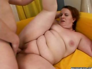 fat pale redhead