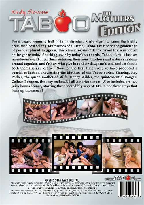 Taboo: The Mothers Edition, Porn DVD, Standard Digital, Kirdy Stevens, Kay Parker, Colleen Brennan, Honey Wilder, All Sex, Classic, Family Roleplay