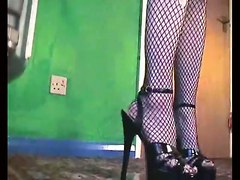 Goth Pee Pis Heels Fisnet Stockings ShoesPiss Gothic