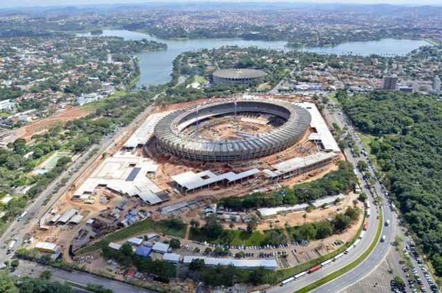 A esplanada do novo Mineirão possui 80 mil m2 e se transformou no novo cartão-postal da capital mineira (Sylvio Coutinho/Divulgação)