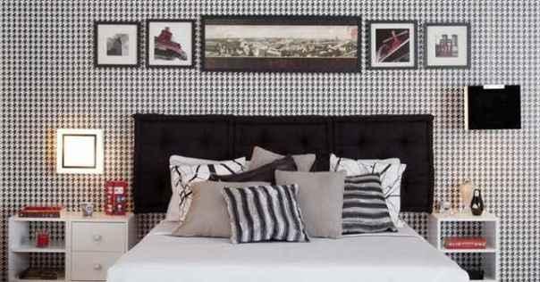 Entre papéis de parede, almofadas e cortinas, o grafismo pode compor diversos elementos da decoração (Divulgação/Leroy Merlin)