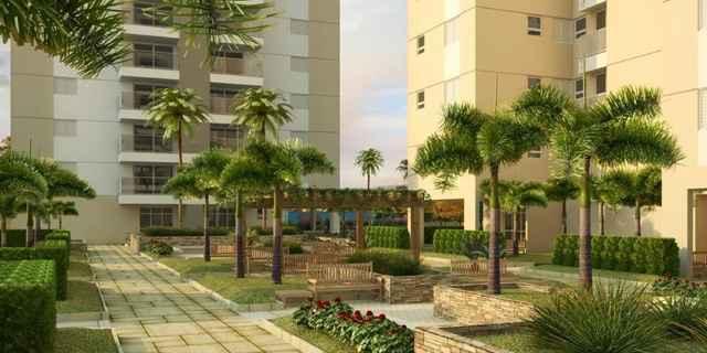 Nas áreas comuns do condomínio os idosos podem usufruir dos espaços para fazer exercícios e tomar banho de sol (Reprodução/Internet)