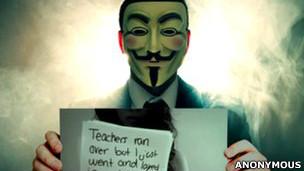 Grupo Anonymous postou vídeo na internet para contestar Hunter Moore