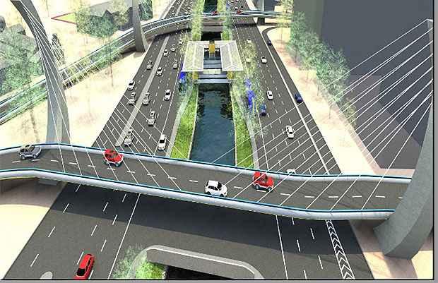 Viadutos sobre a Avenida Agamenon Magalhães não serão mas construídos. Foto: Divulgação