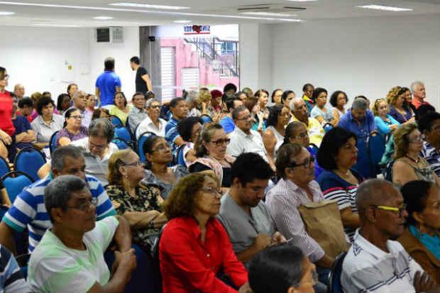 Assembleia previdenciária do Sindsprev-PE realizada no último dia 20 definiu várias ações do pleito de tentar assegurar a volta do ministério. Foto: Edmundo Ribeiro