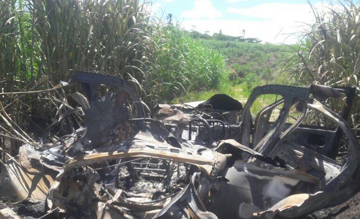 Canavial onde o carro de Júnior Veras foi localizado era deserto. Foto reprodução/amigos
