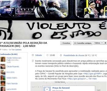 Mais de 8 mil pessoas já confirmaram presença na página do evento, marcado para este sábado, às 13h, na Praça da Savassi (Reprodução/Facebook )