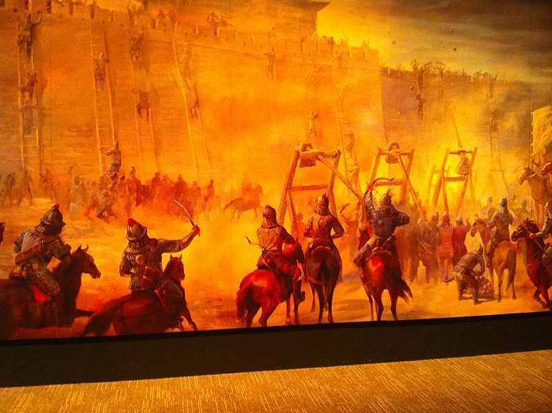 Bill Toroli - Mural of seige warfare, Genghis Khan Exhibit, Tech Museum San Jose, 2010 (CC)