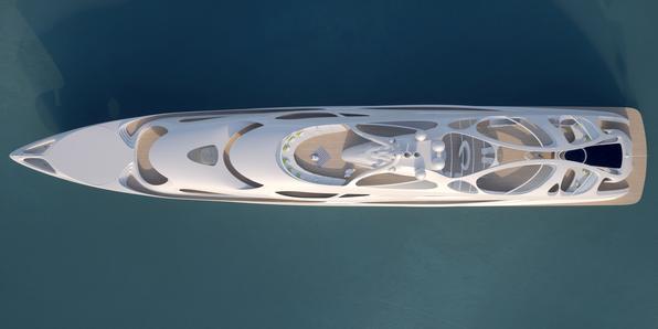 Arquiteta de renome internacional, Zaha Hadid acaba de projetar um iate de luxo que revoluciona o design naval. A profissional colaborou com os estaleiros Blohm Voss e apresenta protótipo de embarcação com desenho orgânico suntuoso e impressionante - Unique Circle Yachts/Zaha Hadid Architects for Bloom Voss Shipyards