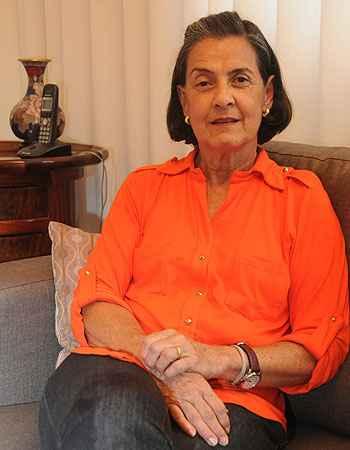 'Saímos da Pampulha na hora certa', diz a aposentada Júlia Becattini (Cristina Horta/EM/D.A Press)