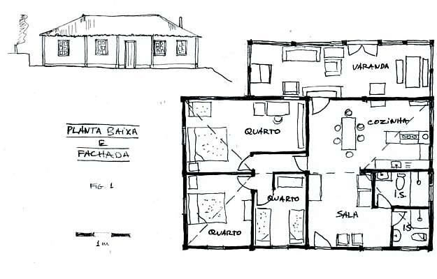 Exemplo de projeto para uma casa de fazenda ou sítio valoriza a área da cozinha, onde os amigos são recebidos (Reprodução do Livro