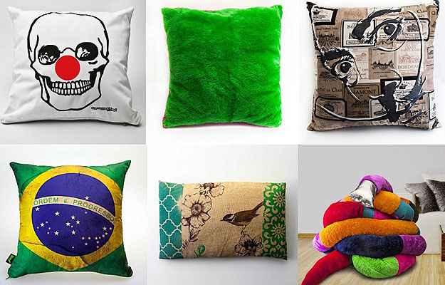 A loja virtual tem uma grande diversidade de almofadas e travesseiros, com preços que variam entre R$ 49,90 até R$ 200  (Divulgação)