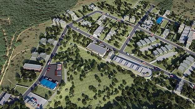 Perspectiva do condomínio empresarial Metropolitan Business Center, do grupo Morada Imóveis, em Lagoa Santa (Grupo Morada Imóveis/Divulgação)