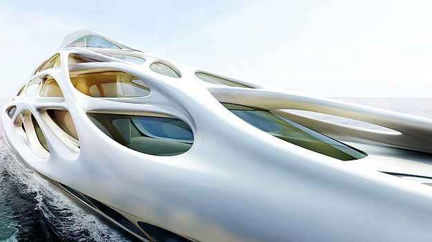 (Unique Circle Yachts/Zaha Hadid Architects for Bloom Voss Shipyards)
