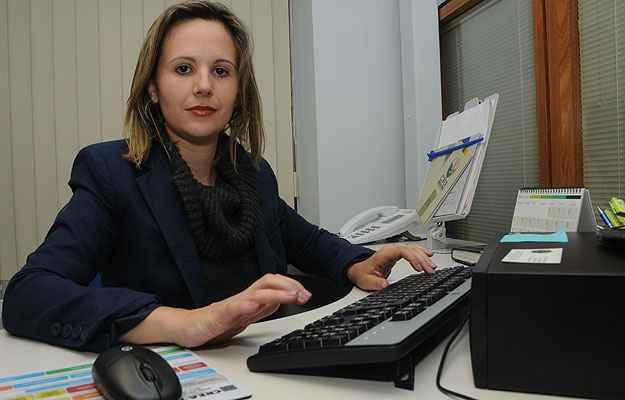 Responsável pela Central de Conciliação da CMI/Secovi-MG, a advogada Camila Linhares lembra que as partes têm autonomia para decidir (Paulo Filgueiras/EM/D.A Press)